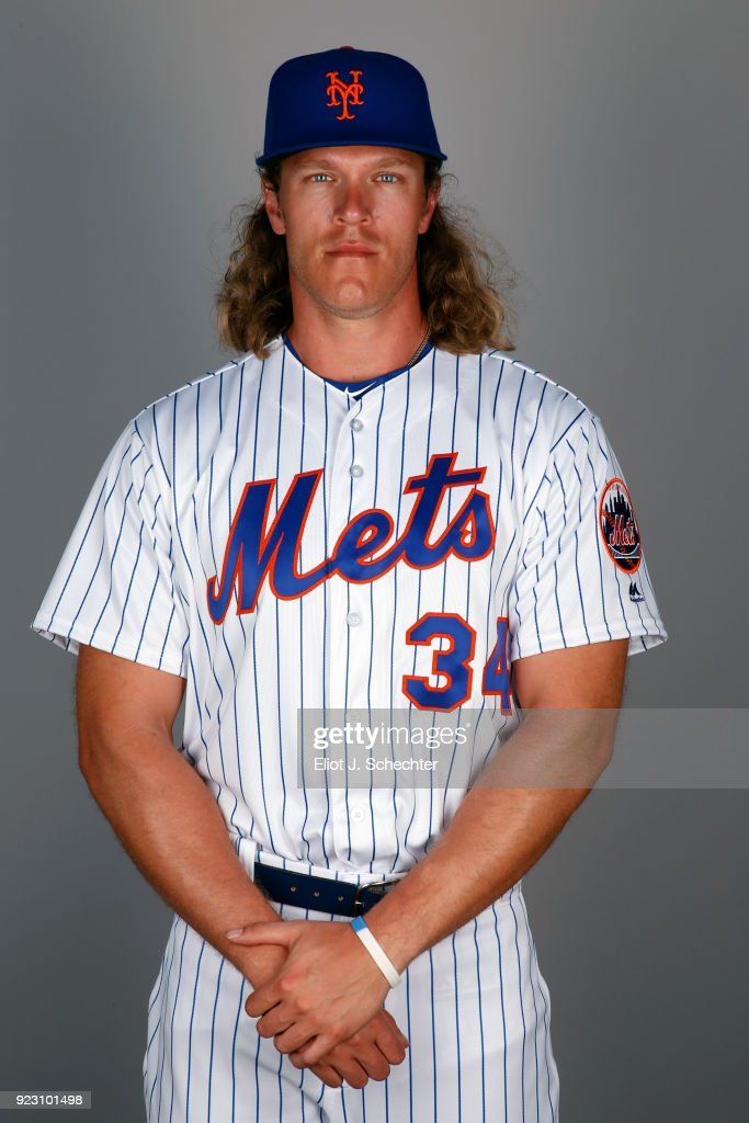 Noah Syndergaard #34 of the New York Mets poses during Photo Day on Wednesday, February 21, 2017 at Tradition Field in Port St. Lucie, Florida.
