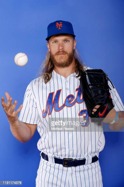 Noah Syndergaard of the New York Mets poses for a photo on Photo Day at First Data Field on February 21 2019 in Port St Lucie Florida