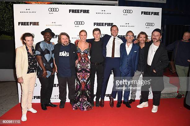 Noah Taylor Babou Ceesay Ben Wheatley Brie Larson Sam Riley Armand Douglas Hammer Michael Smiley Sharlto Copley and Enzo Cilenti attend the...