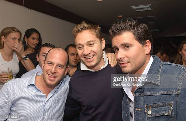 Noah Tepperberg Jason Strauss and Andrew Sasson during Esquire Magazine 'Summer Fun' Issue Release Party at Jet East in Southampton New York United...