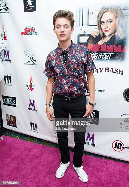 Noah Urrea arrives at Mahkenna's Video Release/Anti Bullying Tour at Busby's East on March 26 2016 in Los Angeles California