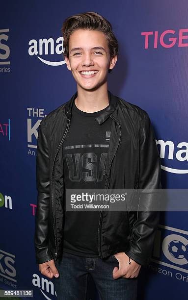 Noah Urrea attends the Premiere Of The Kicks celebrated by Amazon and Tiger Beat at StubHub Center on August 13 2016 in Carson California