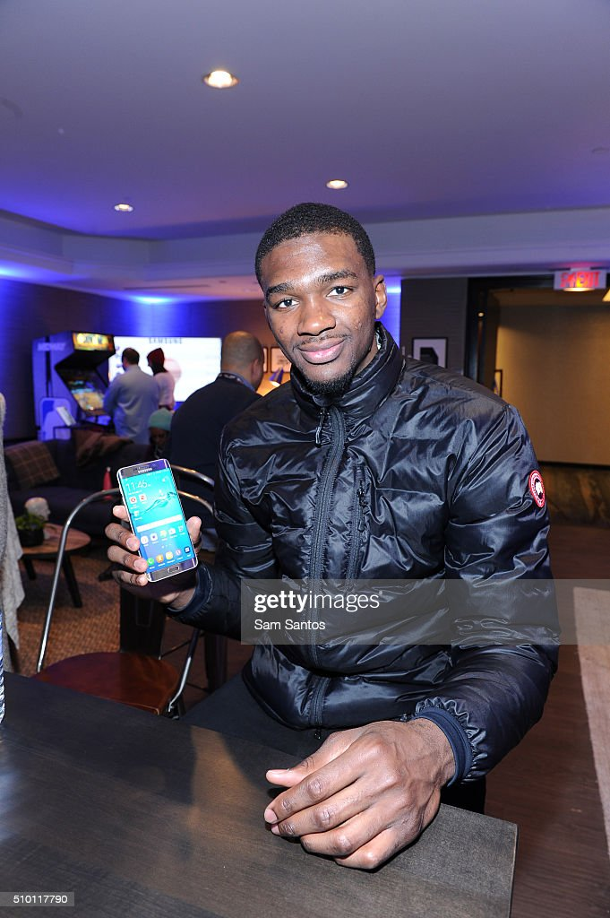 Noah Vonleh at the Samsung Galaxy Lounge during NBA All-Star 2016 on February 13, 2016 in Toronto, Canada.