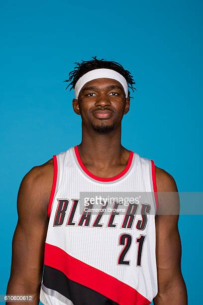 Noah Vonleh of the Portland Trail Blazers poses for a headshot during the 20162017 Portland Trail Blazers media day on September 26 2016 at the Rose...