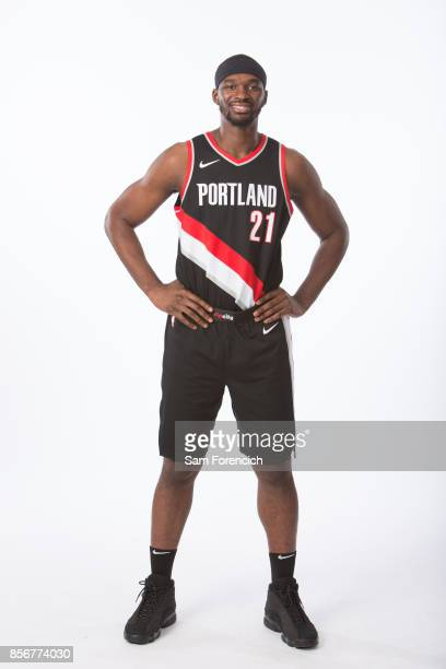 Noah Vonleh of the Portland Trail Blazers poses for a portrait during the 201718 NBA Media Day on September 25 2015 at the Moda Center in Portland...