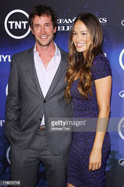 Noah Wyle and Moon Bloodgood arrive at the Los Angeles Premiere of Falling Skies at SilverScreen Theater at the Pacific Design Center on June 13 2011...
