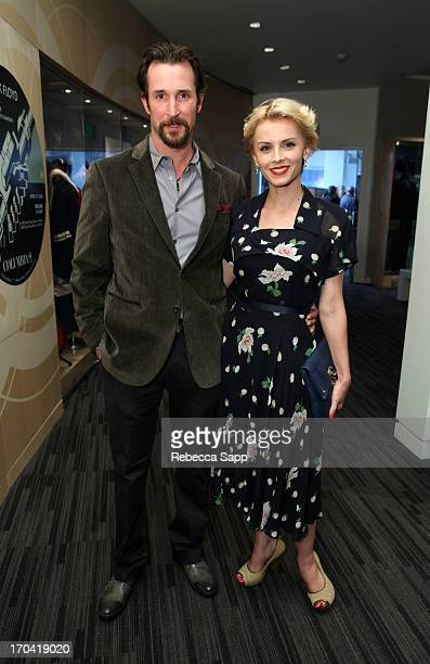 Noah Wyle and Sara Wells at Ringo: Peace & Love Exhibit VIP Launch Event at The GRAMMY Museum on June 12, 2013 in Los Angeles, California.