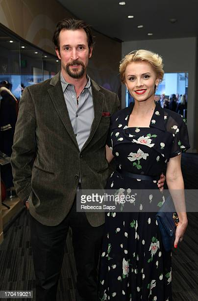 Noah Wyle and Sara Wells at Ringo Peace Love Exhibit VIP Launch Event at The GRAMMY Museum on June 12 2013 in Los Angeles California
