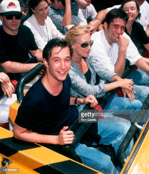 Noah Wyle and Tracy Warbin at the Opening of Jurassic Park- The Ride, Universal Studios, Universal City.