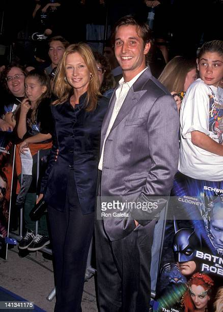 Noah Wyle and Tracy Warbin at the Premiere of 'Batman Robin' Mann Village Theatre Westwood