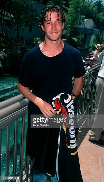 Noah Wyle at the Opening of Jurassic Park- The Ride, Universal Studios, Universal City.