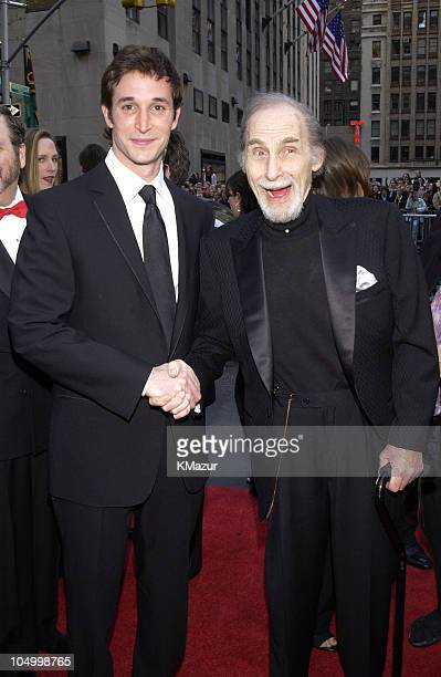 """Noah Wyle from NBC show """"ER"""" and Sid Caesar from NBC show """"Your Show of Shows"""""""
