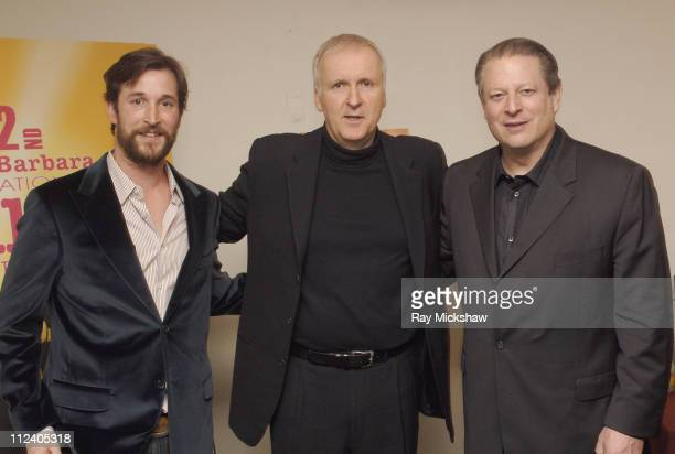 Noah Wyle James Cameron and Al Gore during 22nd Annual Santa Barbara International Film Festival Al Gore and Davis Guggenheim Honored with the...