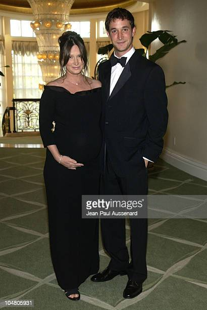 """Noah Wyle & wife Tracy Warbin during Farm Sanctuary Gala 2002 """"Emmys For Animals"""" at Beverly Hills Hotel in Beverly Hills, California, United States."""