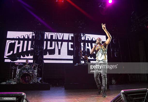 Noah 'Xaphoon Jones' Beresin and Chidera 'Chiddy' Anamege of Chiddy Bang performs onstage on the opening night of the 'Under the Influence Tour' at...