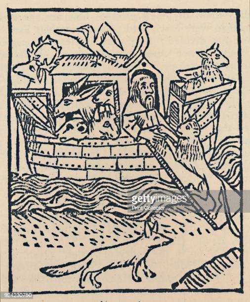 'Noah's Ark' Illustration from Caxton's Golden Legend From The English Bible by Sir Herbert Grierson [Collins London 1947] Artist William Caxton