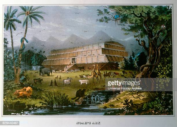 Noah's Ark Inspired from a Painting by Napoleon Sarony Lithograph