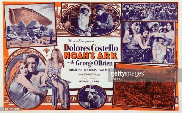 Noah's Ark lobbycard from left Dolores Costello George O'Brien 1928