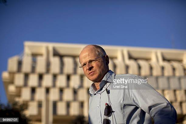 Noam Shalit father of captured Israeli soldier Gilad Shalit during a protest outside Prime Minister Benjamin Netanyahu's office in Jerusalem calling...