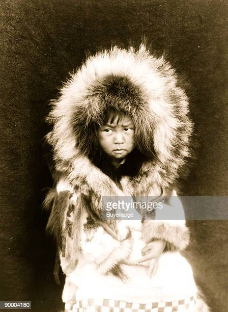 Noatak child threequarter length portrait seated facing front