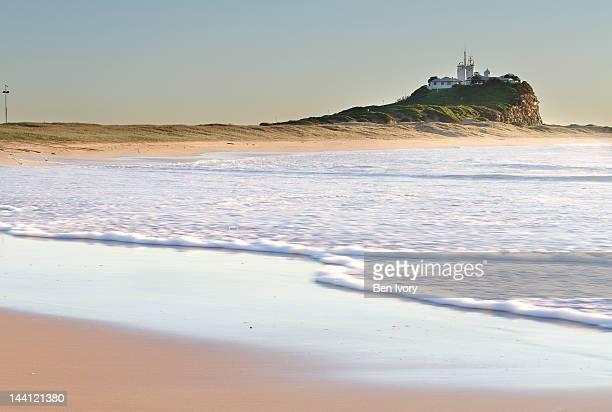 Nobby's lighthouse and beach