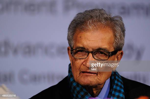 Nobel laureate and economist professor Amartya Sen giving an inaugural lecture at the launch of the International Centre For Human Development on...