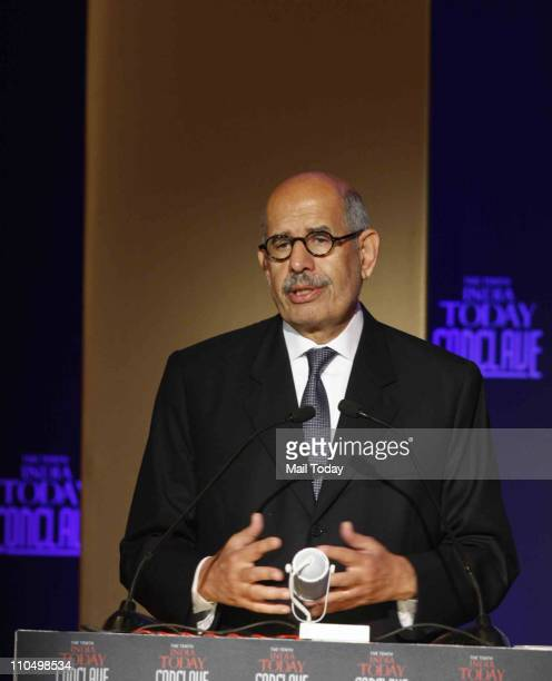 Nobel Laureate and former Director General of the International Atomic Energy Agency Mohammed ElBaradei during 10th India Today Conclave being held...