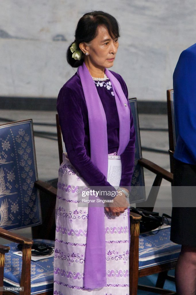 Nobel Peace Prize Lecture By Laureate Aung San Suu Kyi : News Photo