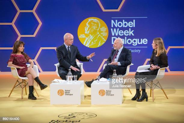Nobel laureate Joseph Stiglitz along with journalists Zeynep Tufekci and Karin Pettersson and former CIA and NSA director Michael Haydenl hold a...
