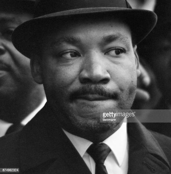 Nobel laureate Reverend Martin Luther King, Jr., wears a five-day growth of beard as he steps outside the jai here for the first time since his...