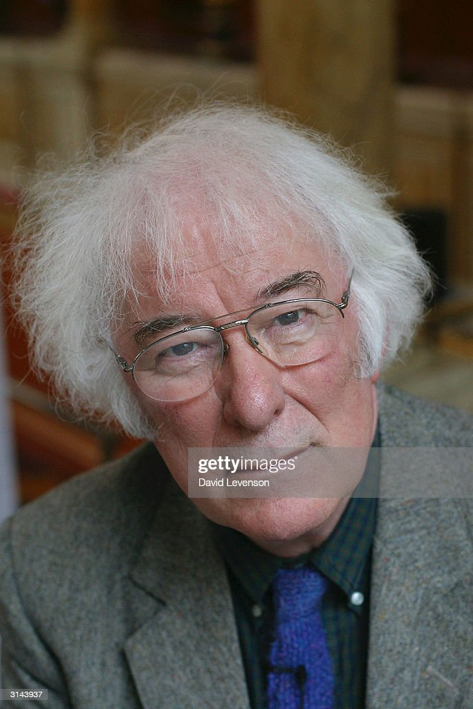 Nobel Laureate Seamus Heaney poses for a portrait at the annual 'Sunday Times Oxford Literary Festival' held at the Sheldonian Theatre on March 26, 2004 in Oxford, England.
