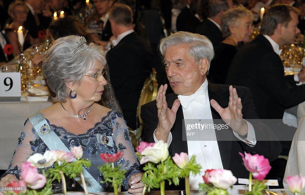 Nobel Literature laureate Matrio Vargas : News Photo