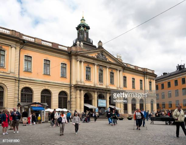 nobel museum in gamla stan, stockholm old town - nobel prize stock pictures, royalty-free photos & images