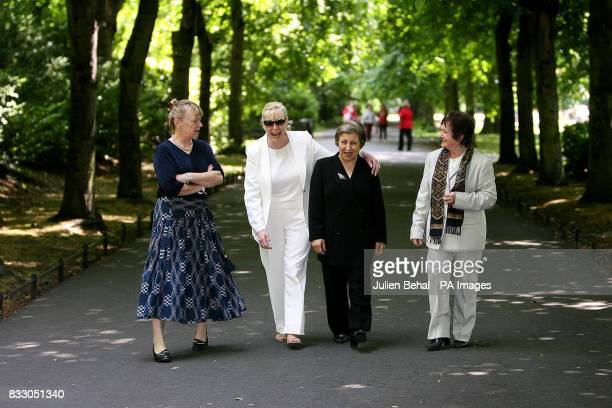 Nobel peace laureates in St Stephens Green Dublin Professor Jody Williams Betty Williams Dr Shirian Ebadi and Mairead Corrigan Maguire four of six...