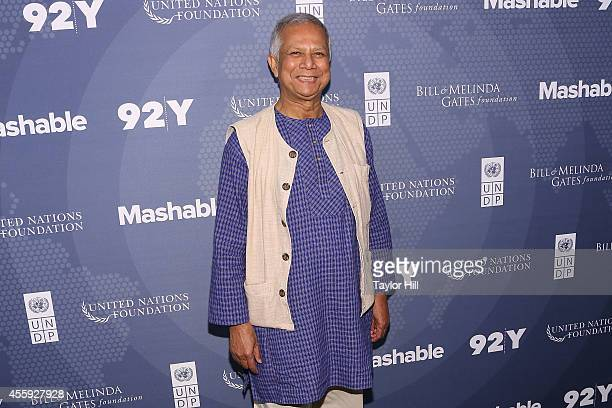 Nobel Peace Prize laureate and Grameen Bank founder Dr Muhammad Yunus attends the 2014 Social Good Summit at 92Y on September 22 2014 in New York City