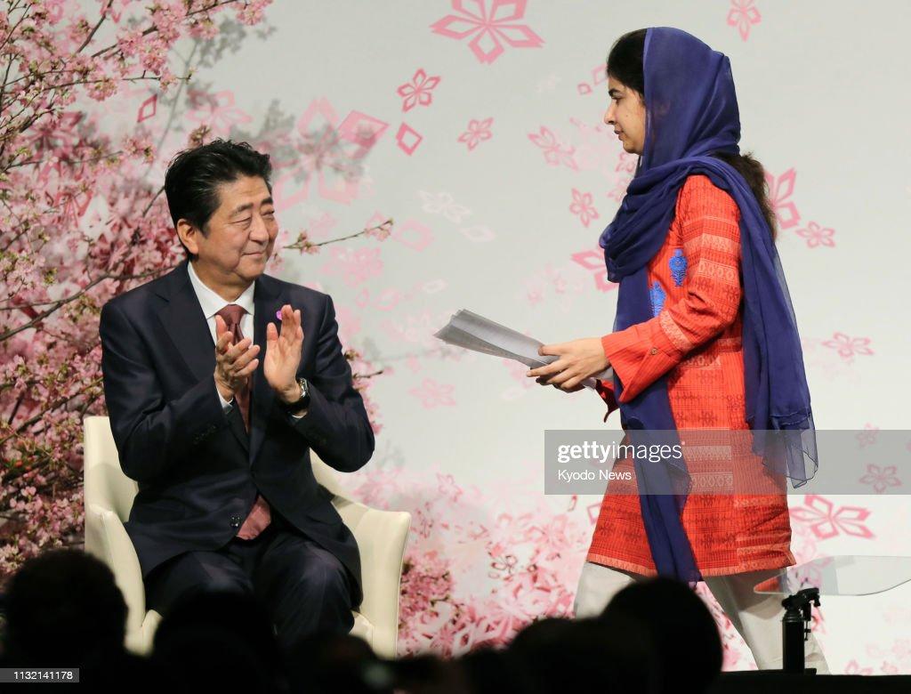 Nobel Peace Prize laureate Malala Yousafzai of Pakistan is