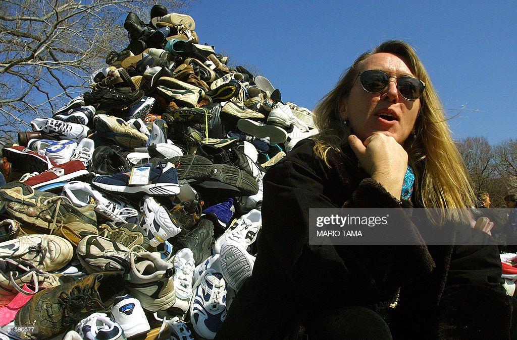 Nobel Peace Prize winner Jody Williams sits in fro : News Photo