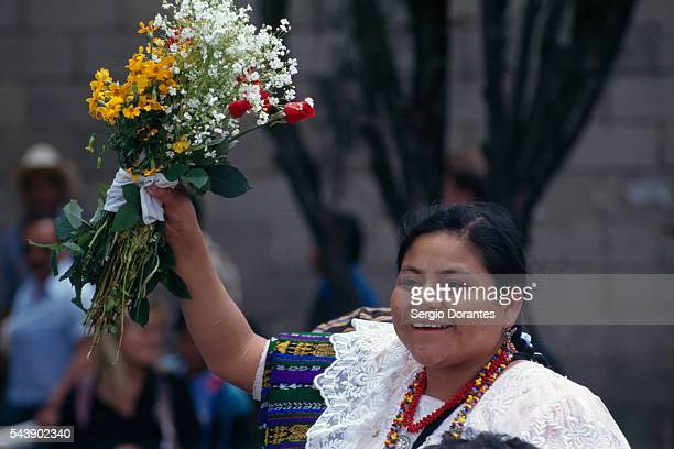 Nobel Peace Prize Winner Rigoberta Menchu Returns to Her Homeland