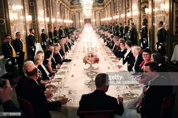 Nobel Prize 2018 laureates attend the King's dinner for the Nobel Laureates at the Royal Palace in Stockholm December 11 2018 / Sweden OUT