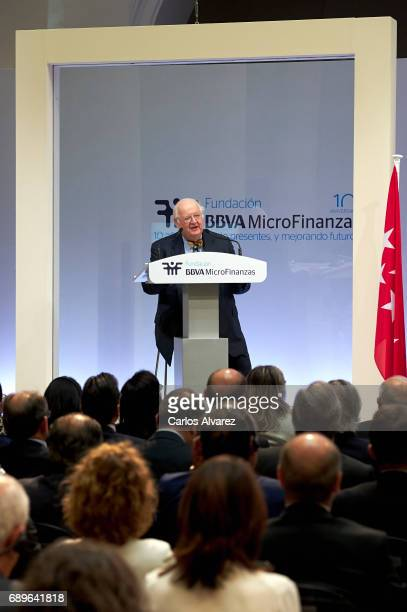 Nobel Prize in Economics Angus Deaton attends the 10th Anniversary of 'Microfinanzas BBVA' at the BBVA Bank Foundation on May 29 2017 in Madrid Spain