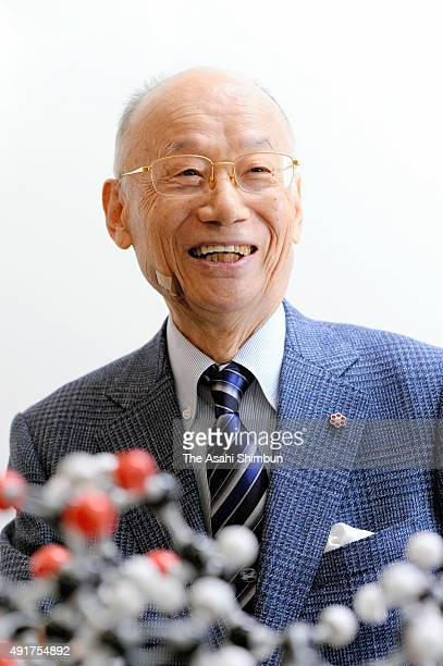 Nobel Prize in Medicine laureate and Kitasato University Professor Emeritus Satoshi Omura speaks during the Asahi Shimbun interview on October 7 2015...