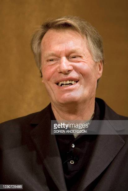 Nobel Prize Laureate in Literature Jean-Marie Gustave Le Clezio answer questions during a press conference at the Grand Hotel in Stockholm on...