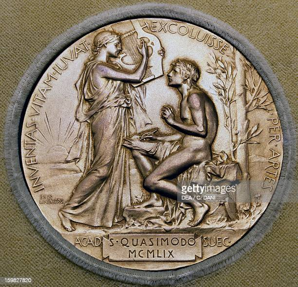 Nobel Prize Medal awarded to Salvatore Quasimodo in 1959 20th century