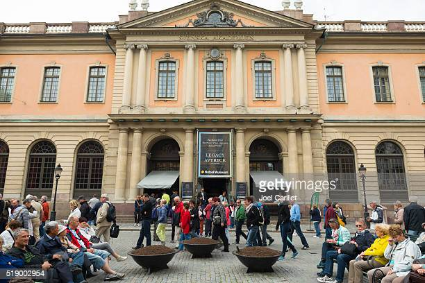 nobel prize museum in stockholm, sweden - nobel prize stock pictures, royalty-free photos & images