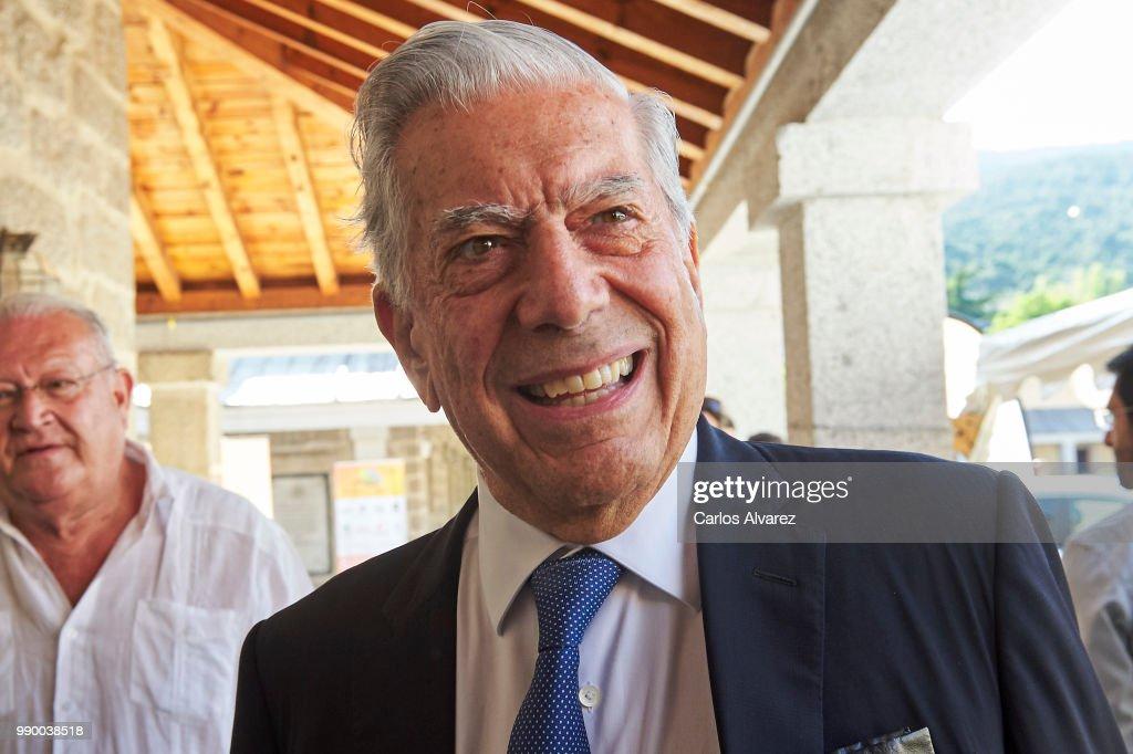 Mario Vargas Llosa Attend El Escorial Summer Courses 2018