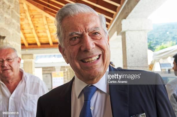 Nobel prize winner for literature Mario Vargas Llosa attends El Escorial Summer Courses 2018 at Real Centro Universitario Escorial Maria Cristina on...
