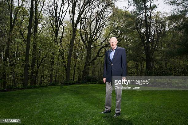 Nobel Prize winner for Physics Robert Woodrow Wilson is photographed for New Jersey Monthly on May 7 2014 in Holmdel New Jersey