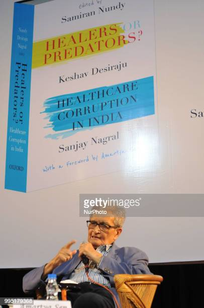 Nobel Prize Winning Eminent economist Prof Amartya Sen at the his write new Book release quotHealers or Predators healthcare Corruption in India quot...