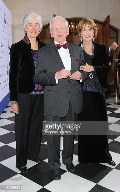 Nobel Prizewinner Harald zur Hausen and wife EthelMichelle de Villiers and Christa Maar attend the award ceremony of the 'Felix Burda Award' at the...