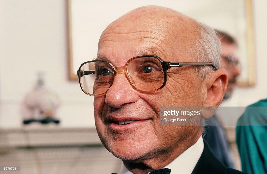 Economist Milton Friedman Portrait Session : News Photo